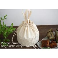 Buy cheap Natural Beige Thick Canvas Drawstring Pouches Produce Bags Muslin Bags Gift Bags Sacks Sachet Bags for Jewelry Candy Fav from wholesalers