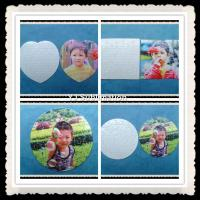 Buy cheap Sublimation square mini puzzle white glittering from wholesalers