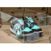 Buy cheap Non - toxicity Acrylic Storage Boxes , clear shoe boxes with lid for display from wholesalers