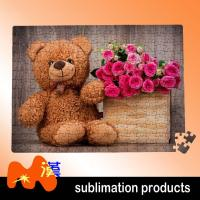 Buy cheap Elegantly Small Photo Jigsaw Puzzle With Bears And Flowers Cartoon Toy from wholesalers