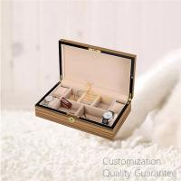 Buy cheap Luxury Men's Gifts Gloss Zebra Wooden Jewelry Watch Cuffs Box Chest Case with Velvet Lining. Gold Metal Lock. product