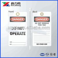 Buy cheap Self - Sealing Manila Electrical Safety Tags Economy Polyester / Self Adhesive Label from wholesalers