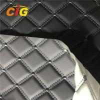 Car Seat Car Floor Embroidery PVC leather with High Density White Foam and White