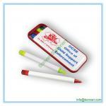 Buy cheap plastic combo pen set, ball pen, highlighter ,mechanical pencil, pen box set from wholesalers