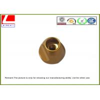Industrial Brass Precision Components , Machining Small Metal Parts Hub Deburr Finishing
