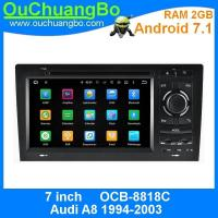 Buy cheap Ouchuangbo car dvd gps navigation multimedia stereo for Audi A8 1994-2003 with HD 1080P video  android 7.1 system from wholesalers