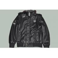 Buy cheap Size 52 XL Black / Coffee mens slim Fitted Hooded Leather Jackets for Adults product