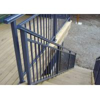 China Eco Friendly Lightweight Exterior Aluminum Stair Railings Without Glass ISO on sale