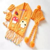 Buy cheap Lovely hand knitting baby hats,scarf,gloves. from wholesalers