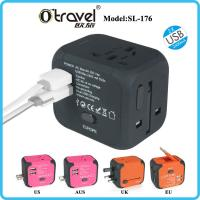 Buy cheap SL-176  7 pins Multi Function world universal travel adapter with dual usb charger from wholesalers