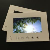 Buy cheap White blank paper card 7inch LCD screen video brochure card video advertising book for custom design product