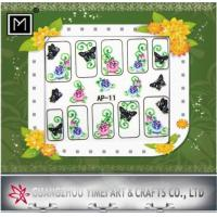 Buy cheap Cartoon, Flower custom DIY 2D Nail Art Sticker, colorful nail designs with Sliver Plating from wholesalers