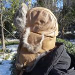 Buy cheap Custom Aviation Shearling Trapper Hat Earflap Rabbit Fur Trim Ushanka Hats from wholesalers