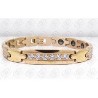 Buy cheap 18K Rose Gold Plated Stainless Steel Bracelets With CNC And Hematite from wholesalers