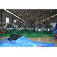 China Fireproof Silver Giant Inflatable Balloons , Inflatable Mirror Ball For Promotion on sale