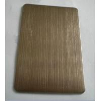 Buy cheap 304 Chocolate Hairline Finish Ti-coating Colored Stainless Steel Sheet For Elevator Cabin from wholesalers