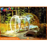 Buy cheap Transparent Igloo Dome Tent / 0.6mm PVC Tarpaulin Inflatable Bubble Tent from wholesalers