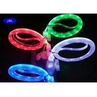 Quality Transparent PVC Jacket Flat Lighted Cable High Speed USB Cord for sale
