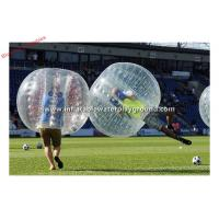 Buy cheap Big Clear PVC Inflatable Body Zorb , Football Games Bubble Bumper Ball 1.3mH from wholesalers