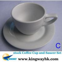 Buy cheap stock stocklot closeout overstock surplus Coffee Cup and Saucer Set from wholesalers