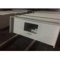Pure White Quartz Kitchen Countertops , 45 Degree Edge Faux Quartz Countertops