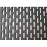 Buy cheap 304 Stainless Steel Slotted Hole Perforated Metal Plain Weave Style 1.22x2.44m Panel Size from wholesalers