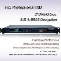 Buy cheap RIH1301 Professional IRD DVB-S/S2 Receiver Mpeg-4 Decoding Digital TV System HD Decoder from wholesalers