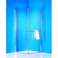 Buy cheap Stainless Handle 900 × 900 Shower Enclosure Pivot Glass Shower Doors With Towel Rack from wholesalers