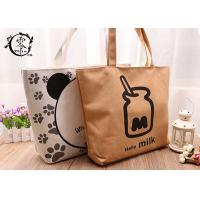Buy cheap Canvas Simple Design Eco Friendly Bags , Organic Jute Reusable X-Large Grocery Tote Bags from wholesalers