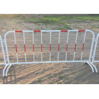Buy cheap Mobile Traffic Barriers 1.1m Height Security Fence Galvanized Tube product