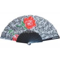 Buy cheap Transfer Printing Fabric Hand Fan For Advertising ,  Souvenirs Varied Design product