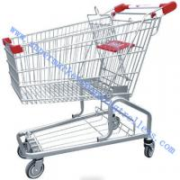 Buy cheap Tesco Germanic Style Grocery Store Shopping Cart , Zinc Powder with Safety Belt from wholesalers