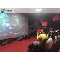 Buy cheap Striking Amusement 7D Movie Theater With Gun Playing , Motion Chair product