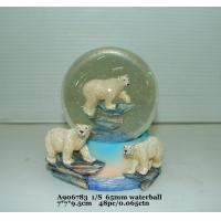 Buy cheap Fashion  Polystone Resin Water Globe With Animal Bear Bases 7 X 7 X 9.5 Cm from wholesalers