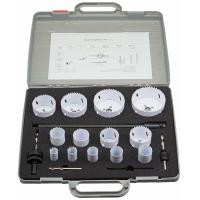 Buy cheap Multi - Size Bi Metal Hole Saw Cutter Kit With Speed Slot 18 Pcs ABS Carrying Case from wholesalers