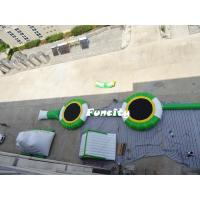 Buy cheap Kids / Adults Commercial Inflatable Water Park Custom Size Green With White from wholesalers