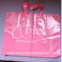 Buy cheap OEM Pink LDPE Soft Loop Handle Bag Promotional Shopping Bags from wholesalers