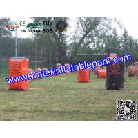 Buy cheap Red Sport  Inflatable Paintball Bunker  , Customized  Inflatable Paintball Field from wholesalers