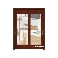 Buy cheap Tempered Glass Wood PVC Doors , Sliding Solid Wood Door from wholesalers