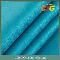 Buy cheap Width 145cm Backing TC Sofa Upholstery Fabric Roll / Polyester Velvet Fabric product