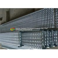 Buy cheap Bolted Fixing Serrated Galvanized Stair Tread , Anti Slip Steel Grate Stair Treads product