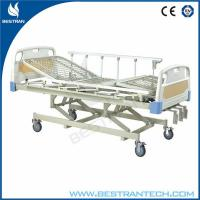 Buy cheap Modern Manual Adjustable Hospital Beds With Rails , Three Crank Bed from wholesalers