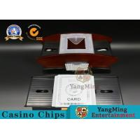 Buy cheap Washable Casino Automatic Plastic Deck Card Shuffler Machine For Bridge from wholesalers