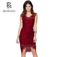 Buy cheap Slim Fit Women'S Casual Dresses Straight O - Neck Lace Casual Dress For Adult from wholesalers