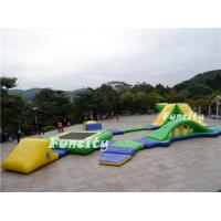 Buy cheap Yellow / Green 0.9mm PVC Tarpaulin Inflatable Floating Water Park For 35 Persons from wholesalers