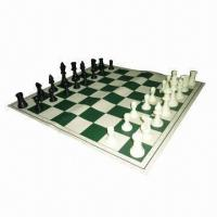 Buy cheap Tournament Chess Set with 3.75 inches King and Vinyl Board with Canvas Loop Tote from wholesalers