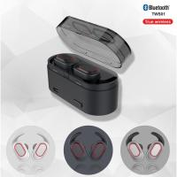 Buy cheap 2019  mini ture wireless earbuds,Bluetooth 5.0 stereo earphones with detachable earfins,earphones with LED light from wholesalers