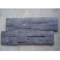 Buy cheap Black Natural Slate Artificial Culture Stone Bathroom Wall Cladding Tile 600x150mm from wholesalers