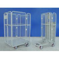 Buy cheap Supermarket Wire Mesh Cart Durable Galvanized Rolling Hand Trolley Cart from wholesalers