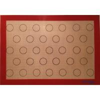 Buy cheap Custom silicone macaron baking mat bakeware sheet product